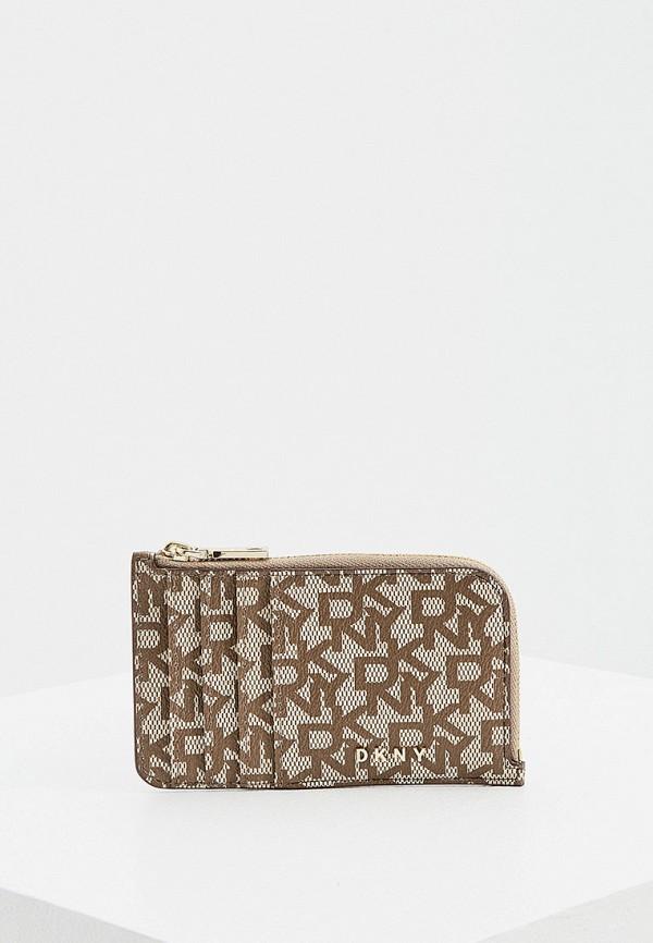 женский кошелёк dkny, коричневый