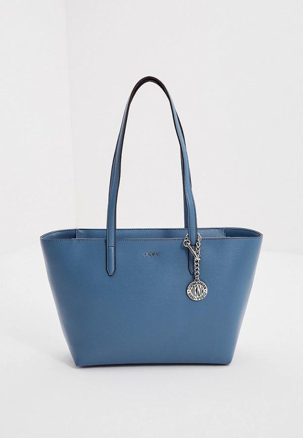 женская сумка-шоперы dkny, голубая