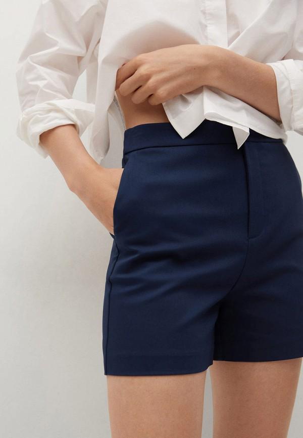 женские повседневные шорты mango, синие