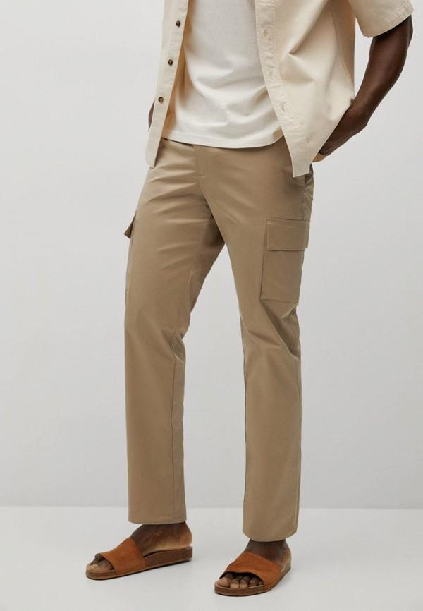 мужские брюки mango man, бежевые
