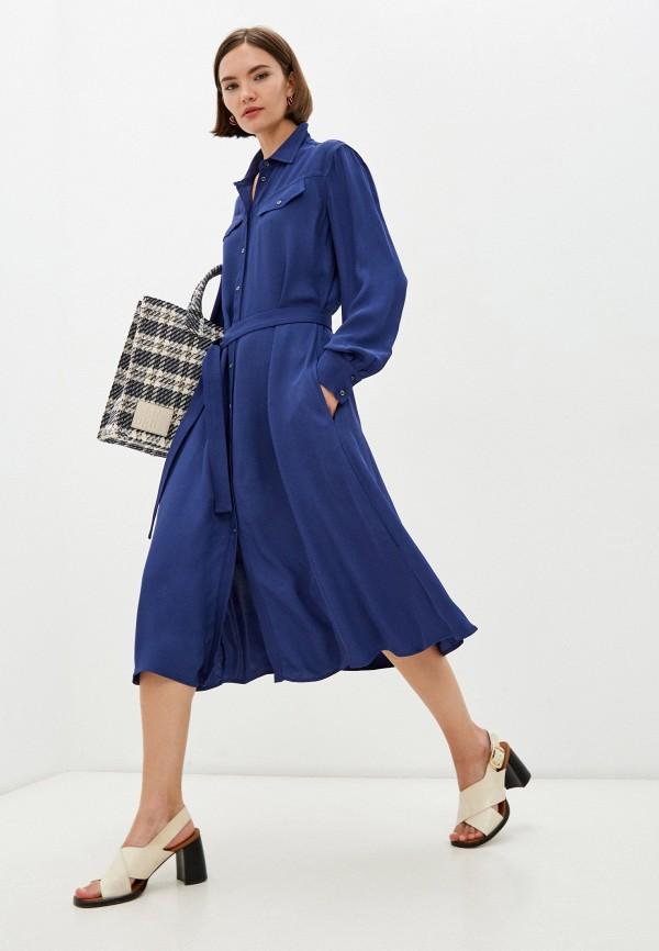 женское платье-рубашки armani exchange, синее