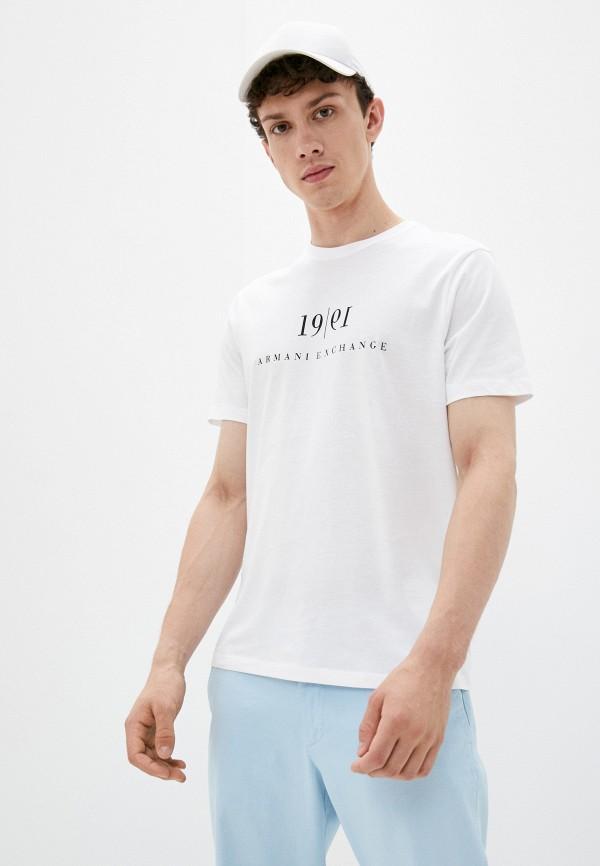 мужская футболка с коротким рукавом armani exchange, белая