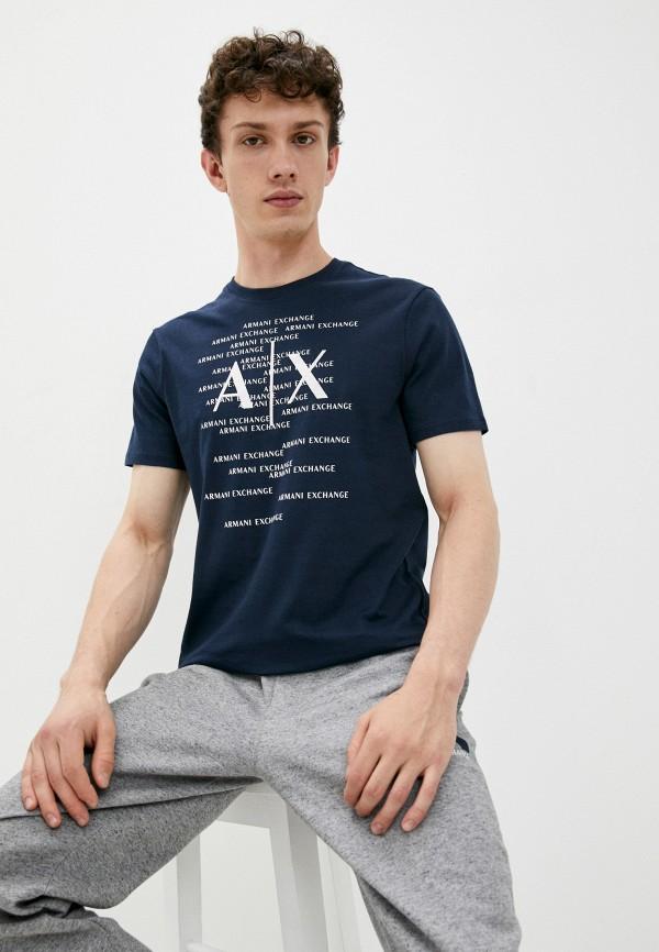 мужская футболка с коротким рукавом armani exchange, синяя