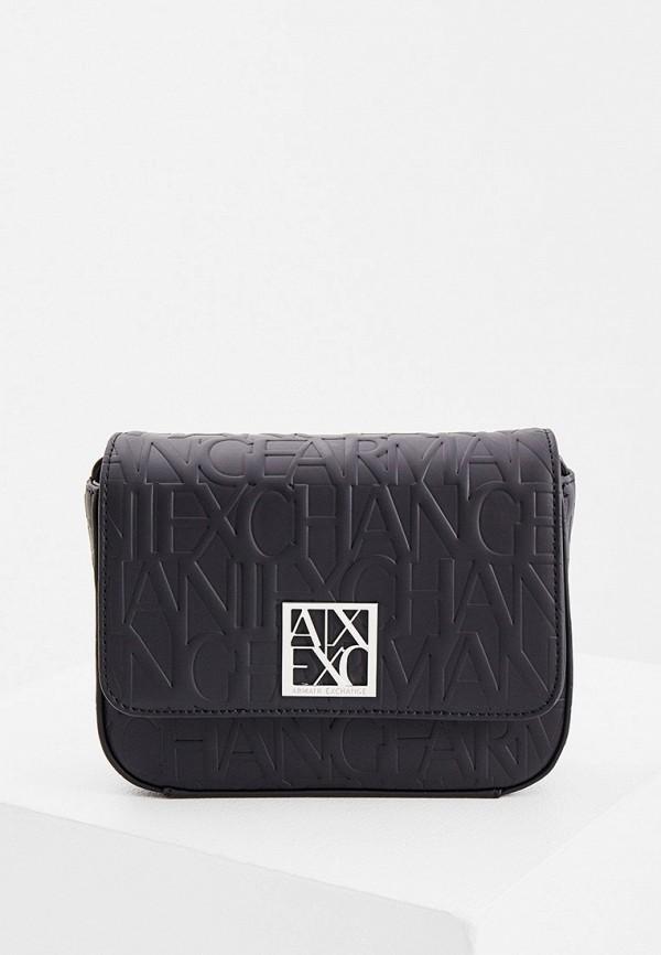 женская сумка через плечо armani exchange, черная