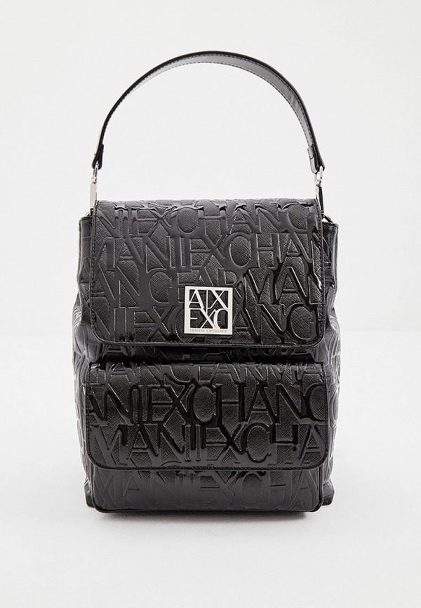 женский рюкзак armani exchange, черный