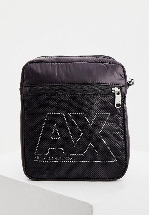 мужская сумка через плечо armani exchange, черная