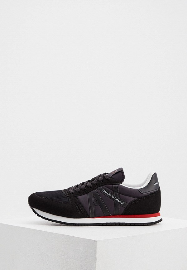 мужские низкие кроссовки armani exchange, черные