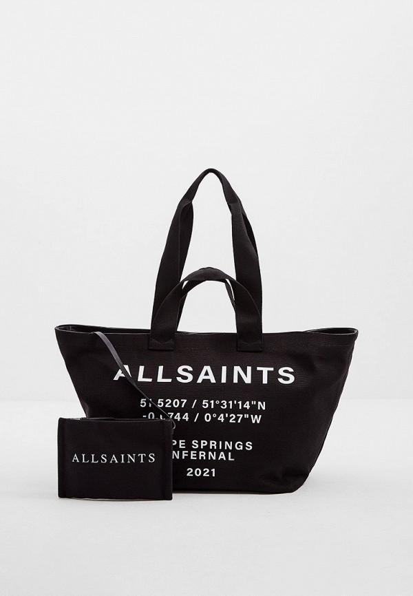 женская косметичка-шоперы allsaints, черная