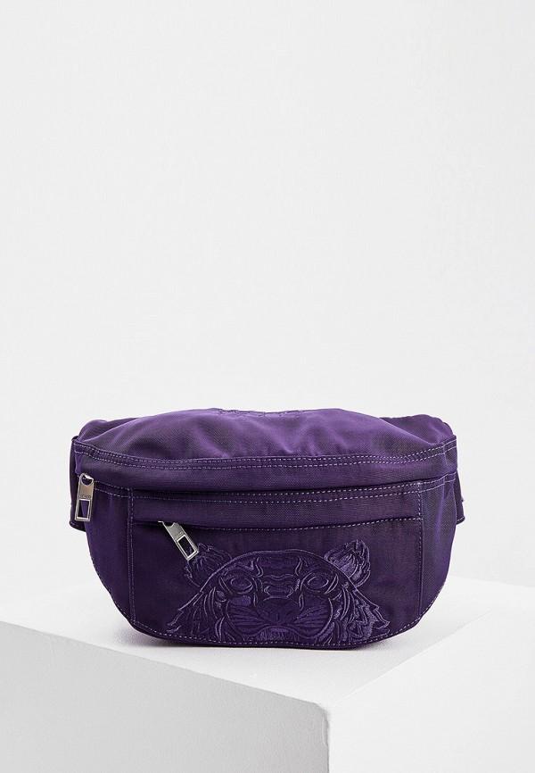 женская сумка kenzo, фиолетовая