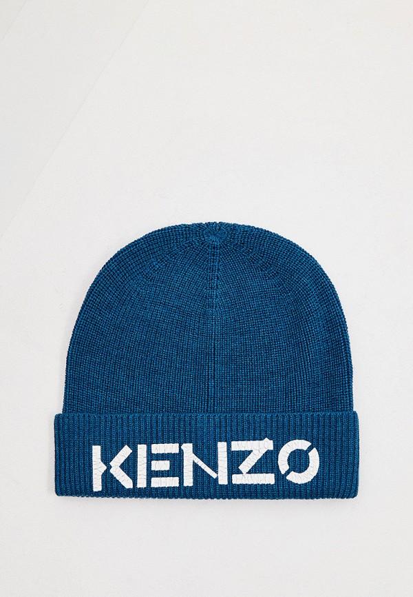 женская шапка kenzo, синяя