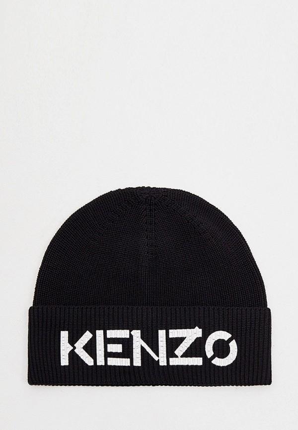 женская шапка kenzo, черная