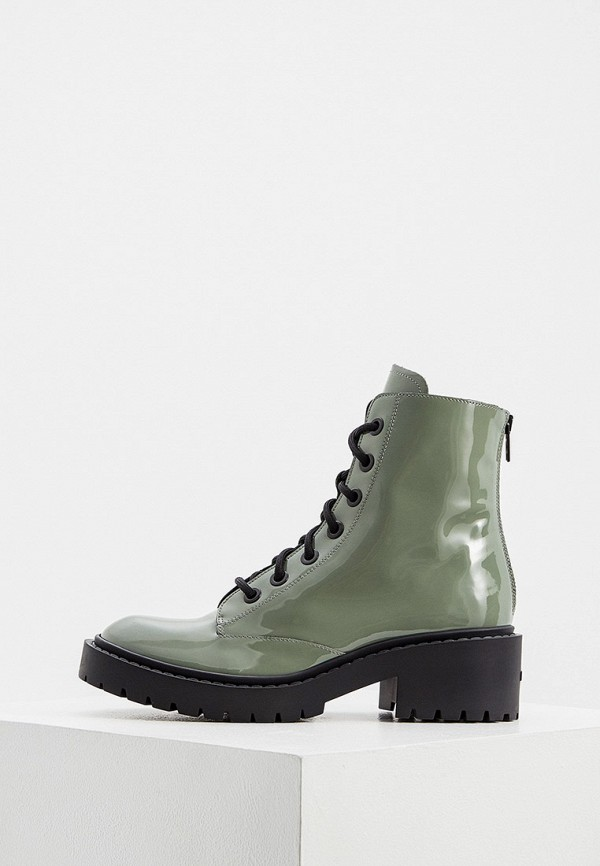женские высокие ботинки kenzo, зеленые
