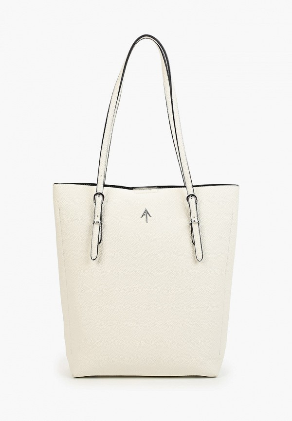 женская сумка-шоперы max & enjoy, белая