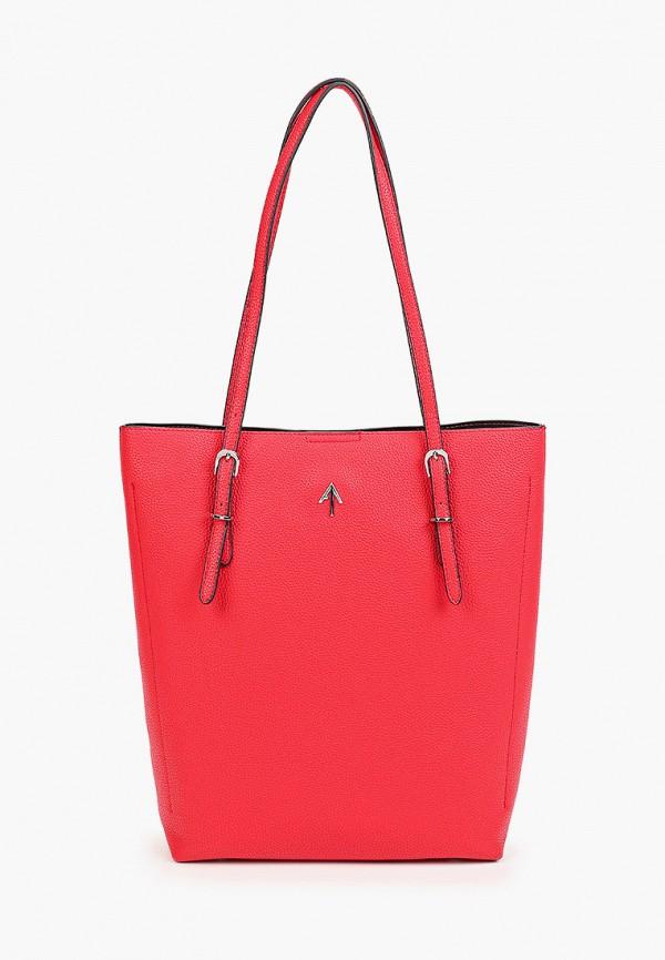 женская сумка-шоперы max & enjoy, красная