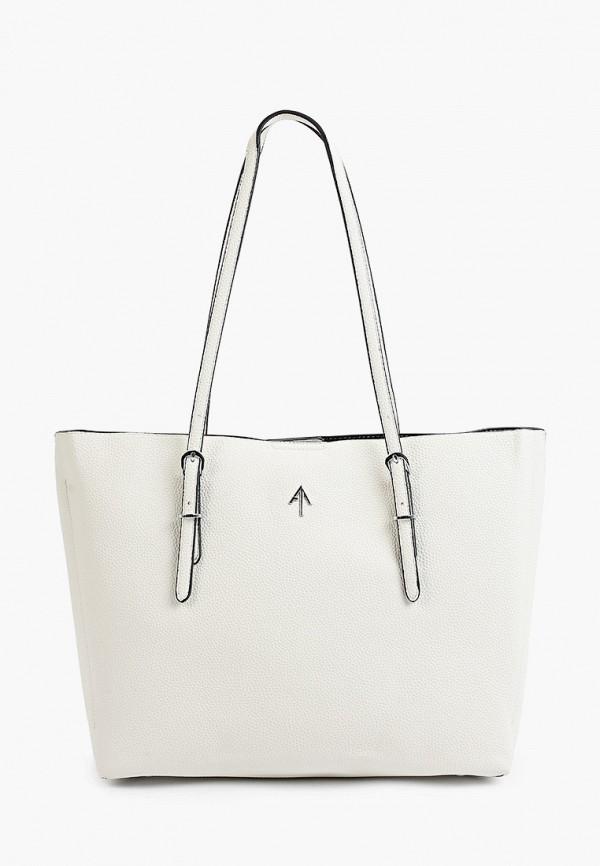 женская сумка max & enjoy, белая