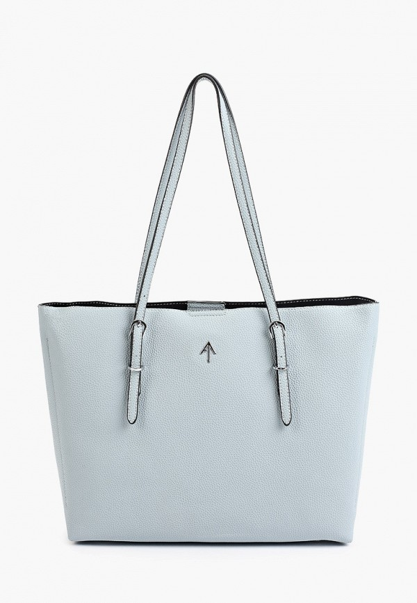 женская сумка-шоперы max & enjoy, голубая