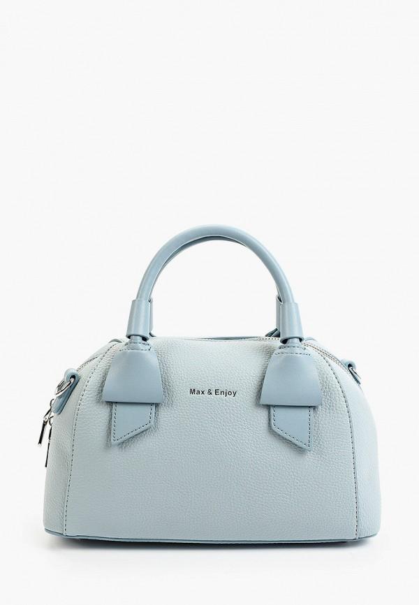 женская сумка max & enjoy, голубая
