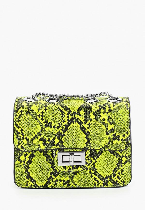 женская сумка через плечо max & enjoy, зеленая
