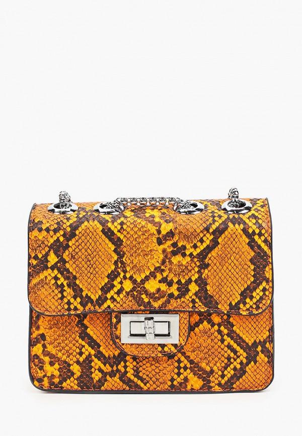 женская сумка через плечо max & enjoy, оранжевая