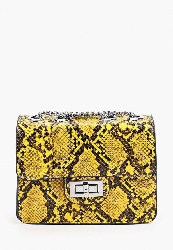 женская сумка через плечо max & enjoy, желтая