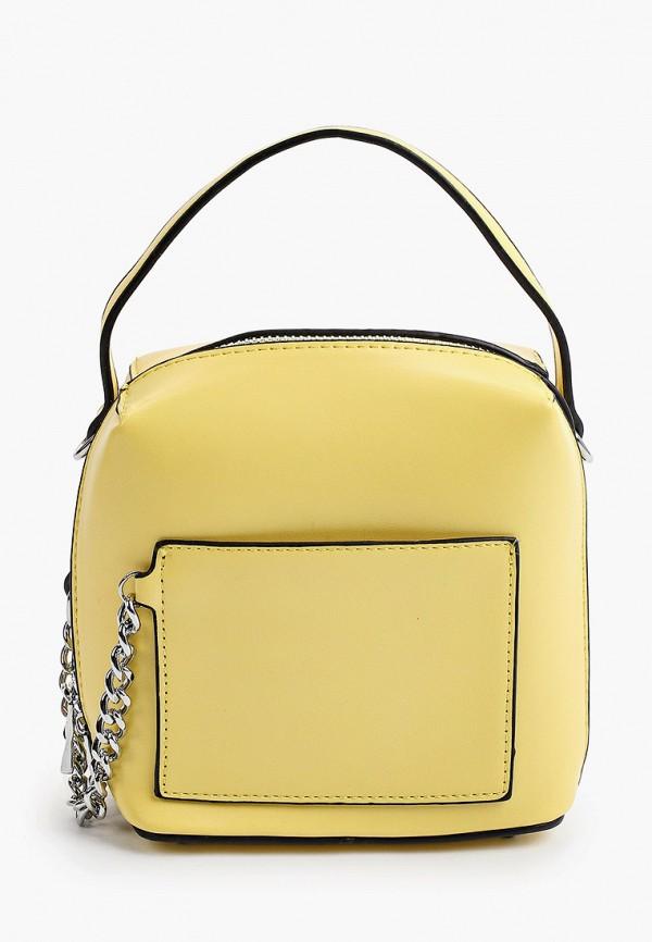 женская сумка с ручками max & enjoy, желтая