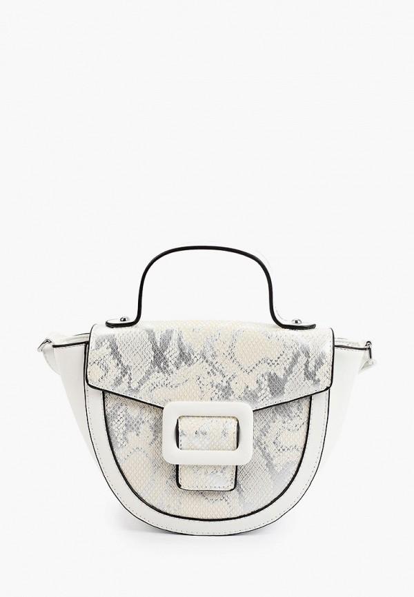 женская сумка с ручками max & enjoy, белая