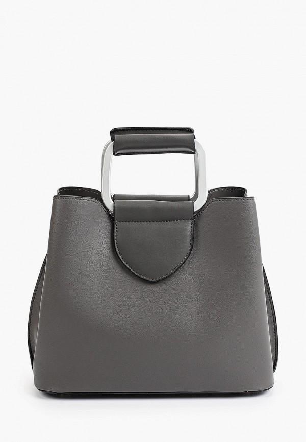 женская сумка с ручками max & enjoy, серая