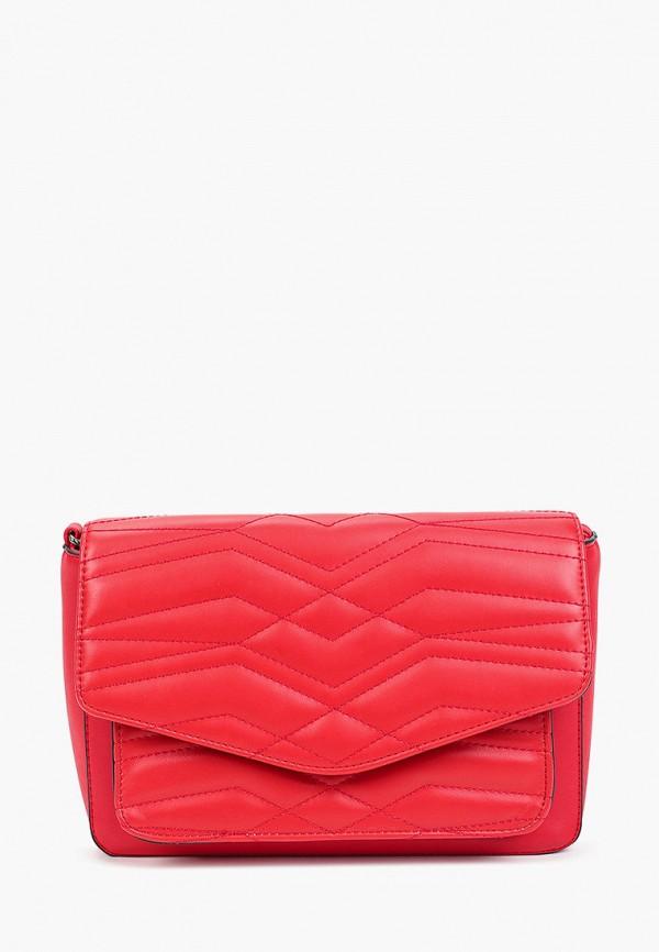 женская сумка через плечо max & enjoy, красная