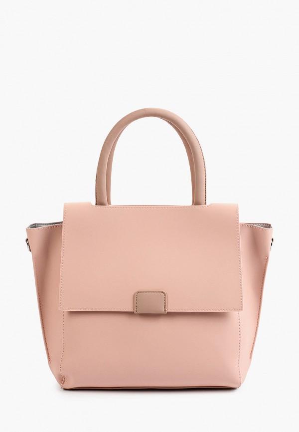 женская сумка с ручками max & enjoy, розовая