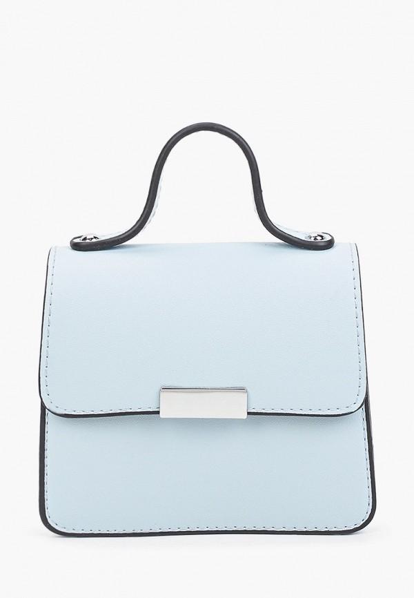 женская сумка с ручками max & enjoy, голубая