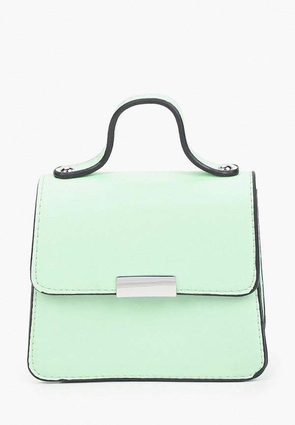 женская сумка с ручками max & enjoy, зеленая