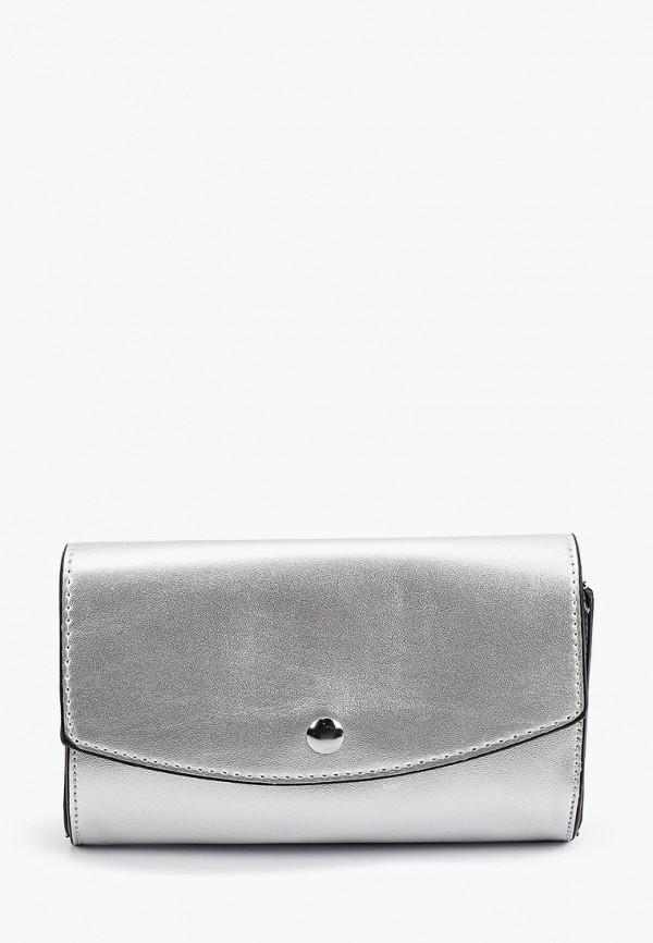 женский клатч max & enjoy, серебряный