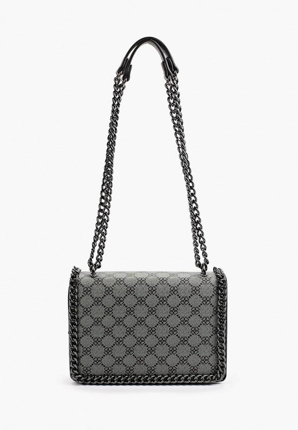 женская сумка через плечо max & enjoy, серая