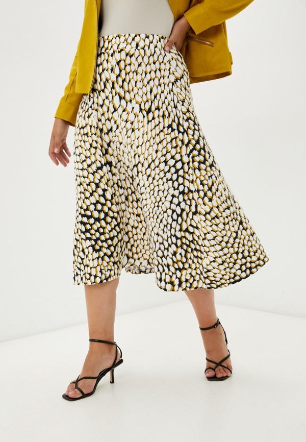 женская юбка-трапеции marks & spencer, разноцветная