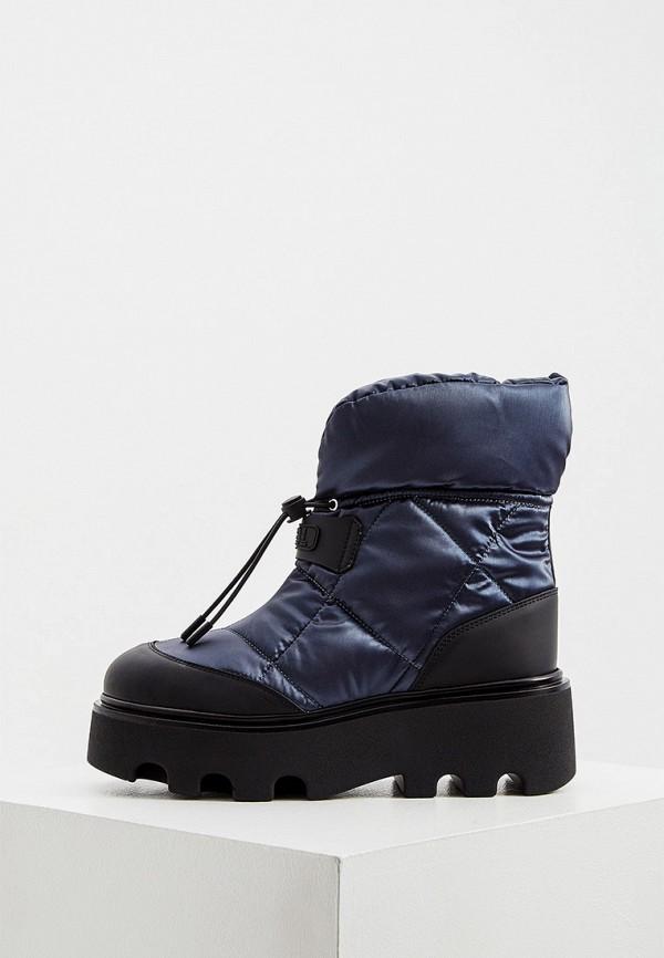 женские высокие ботинки loriblu, синие