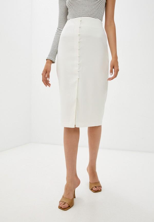 женская прямые юбка zarina, белая