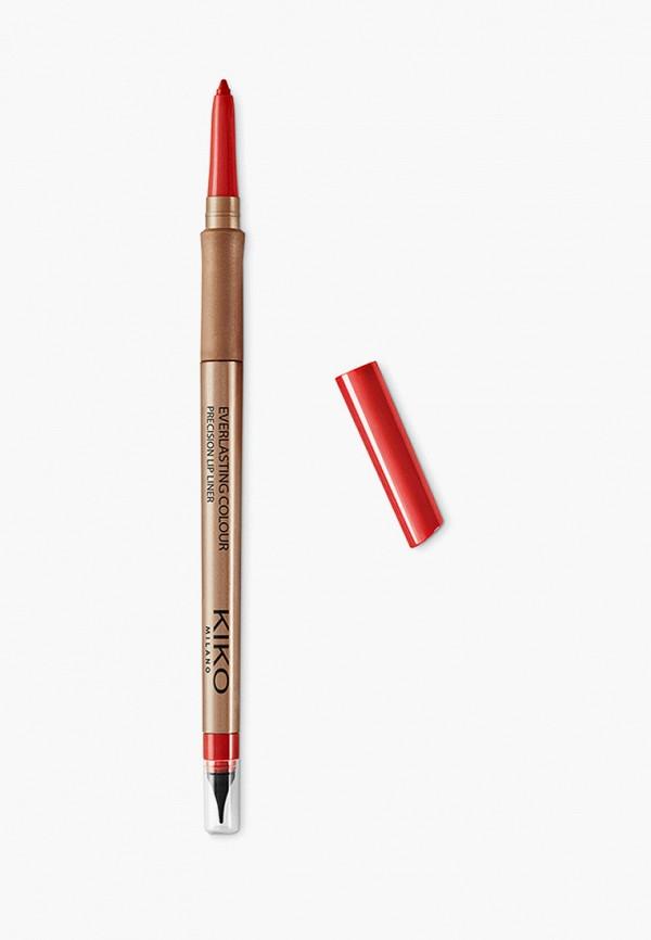 женский карандаш для губ kiko milano, красный