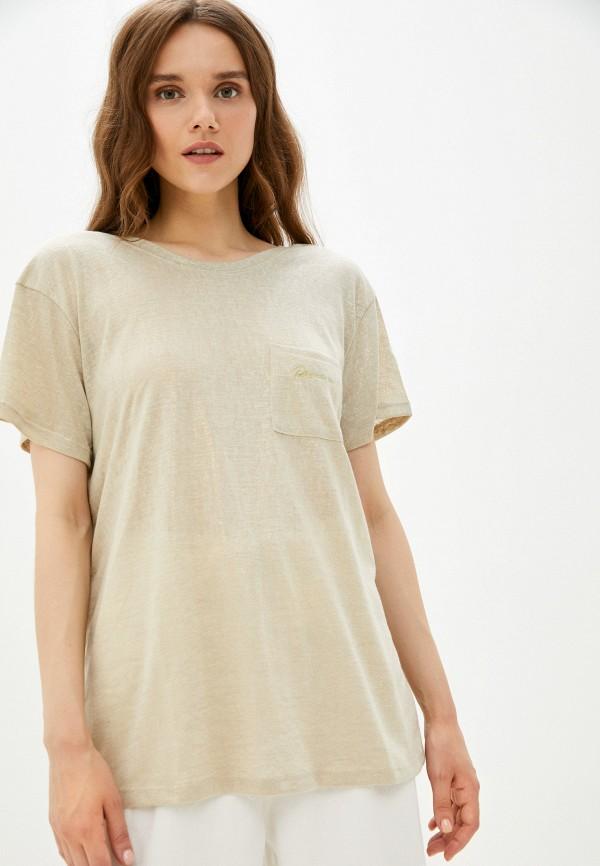 женская футболка river island, золотая