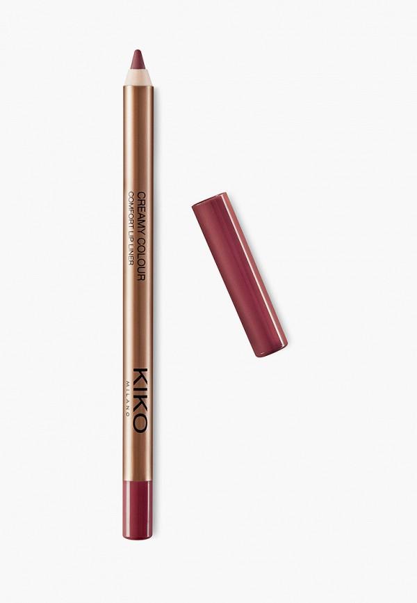 женский карандаш для губ kiko milano, бордовый