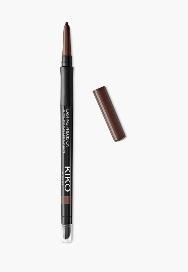 женский карандаш для глаз kiko milano, коричневый