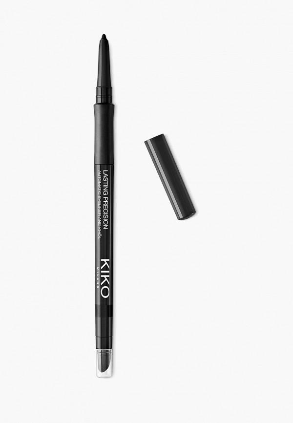 женский карандаш для глаз kiko milano, черный