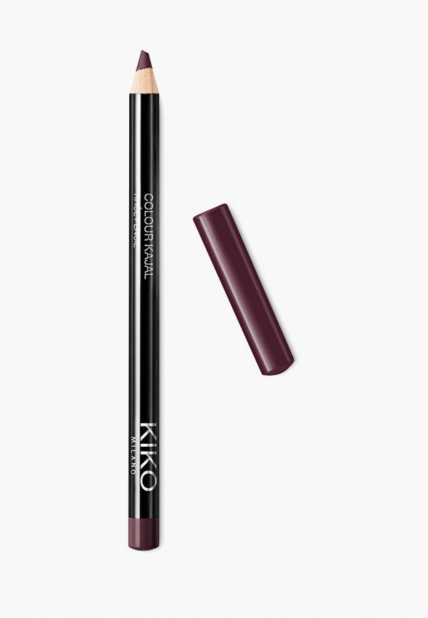 женский карандаш для глаз kiko milano, бордовый