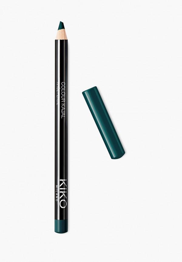 женский карандаш для глаз kiko milano, бирюзовый