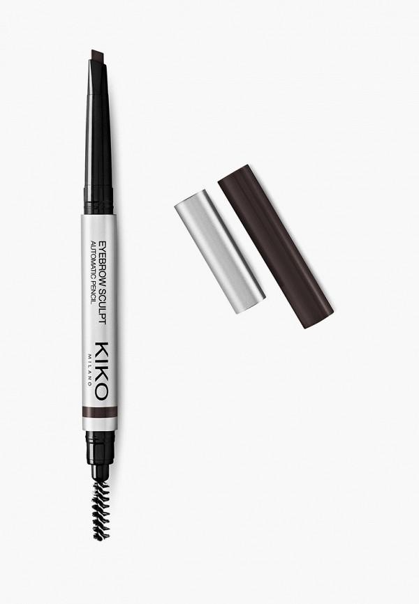 женский карандаш для бровей kiko milano, черный