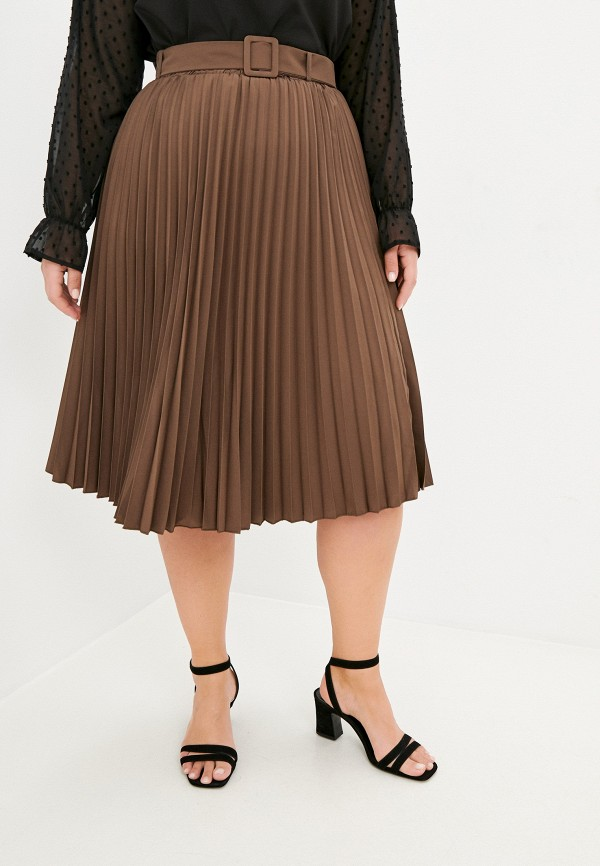 женская юбка francesca peretti, коричневая
