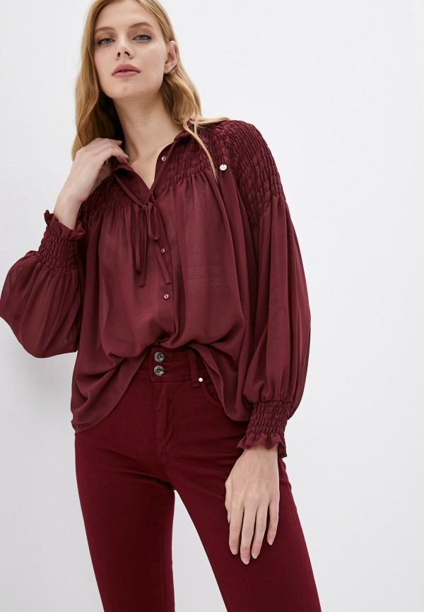 женская блузка salsa, бордовая