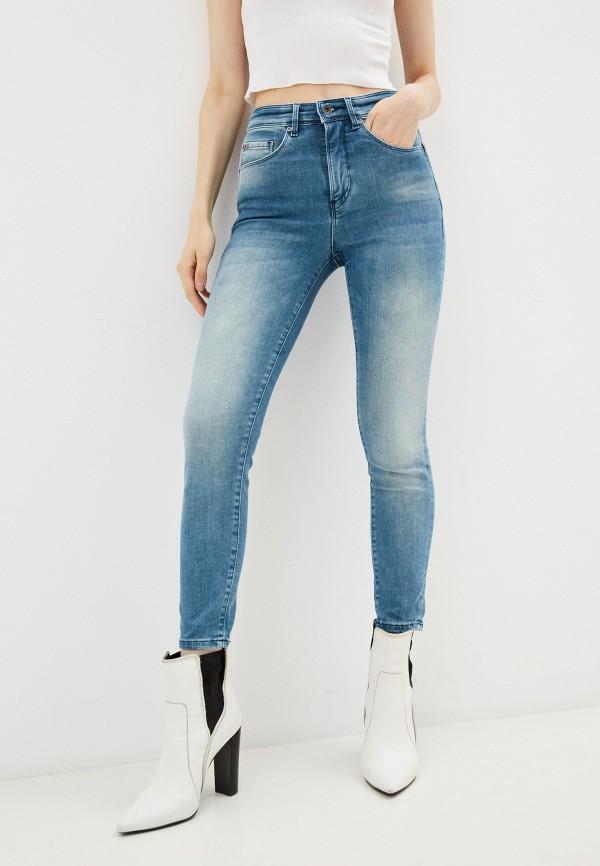 женские джинсы скинни salsa, голубые