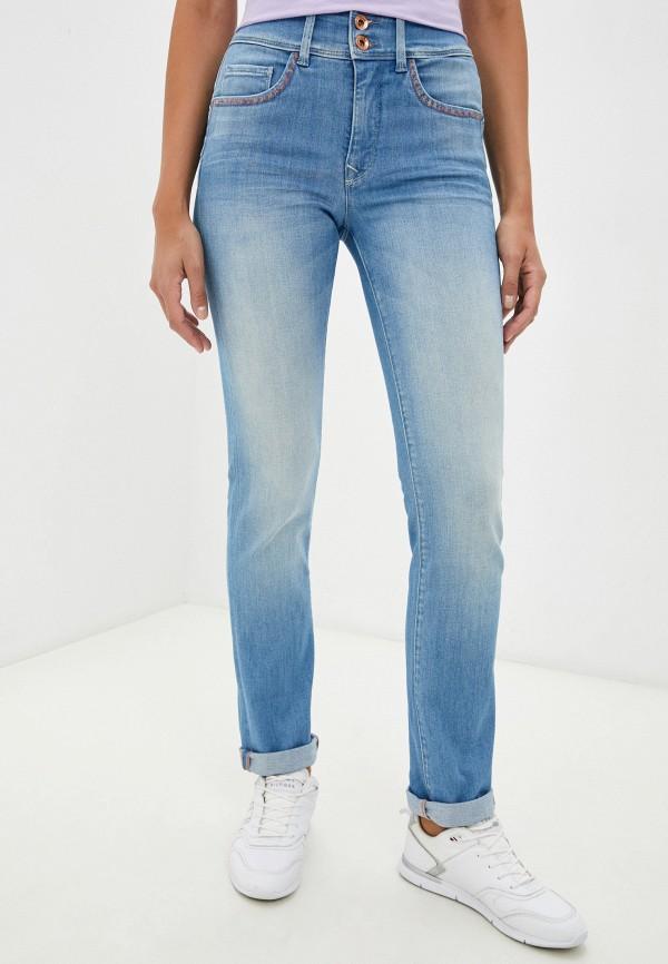 женские прямые джинсы salsa, голубые