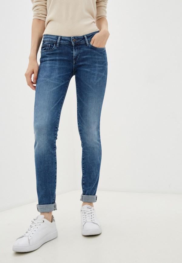 женские джинсы скинни salsa, синие