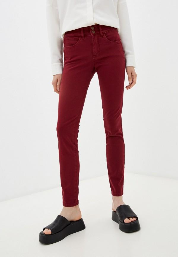 женские повседневные брюки salsa, бордовые
